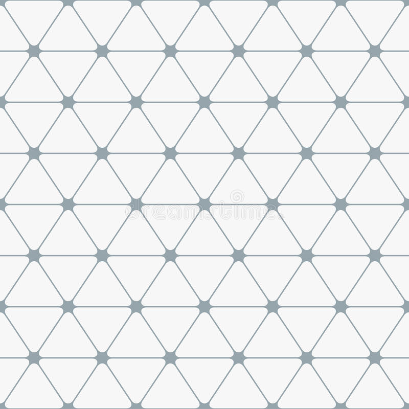 无缝抽象的模式 与圆角落的三角 库存例证