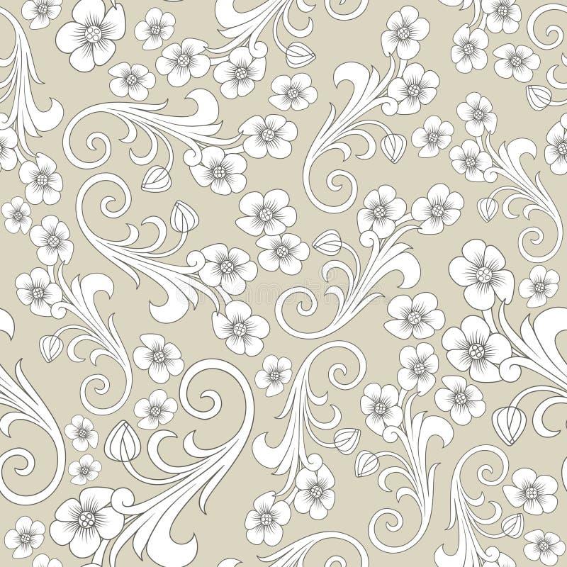 无缝抽象的模式 东方或俄罗斯设计 豪华装饰,传染媒介墙纸,花卉包装纸 皇族释放例证