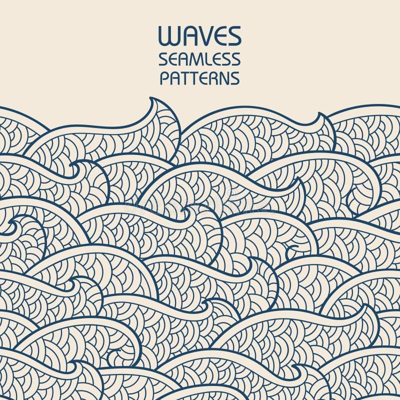 无缝抽象的模式 波浪和标度 也corel凹道例证向量 向量例证