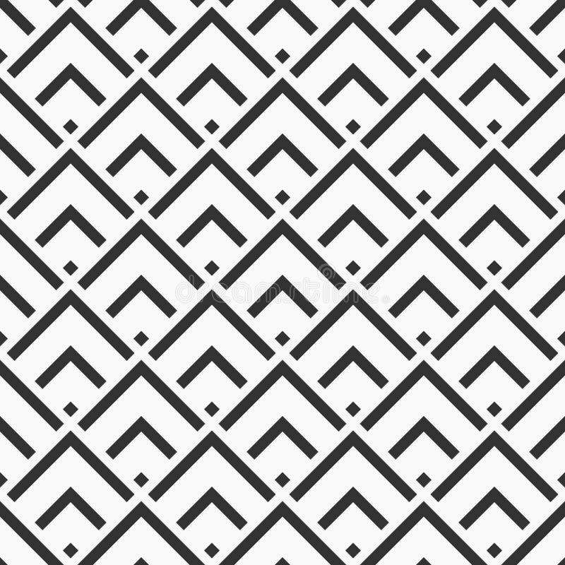 无缝抽象的模式 现代时髦的纹理 重复有条纹元素的几何菱形瓦片 皇族释放例证