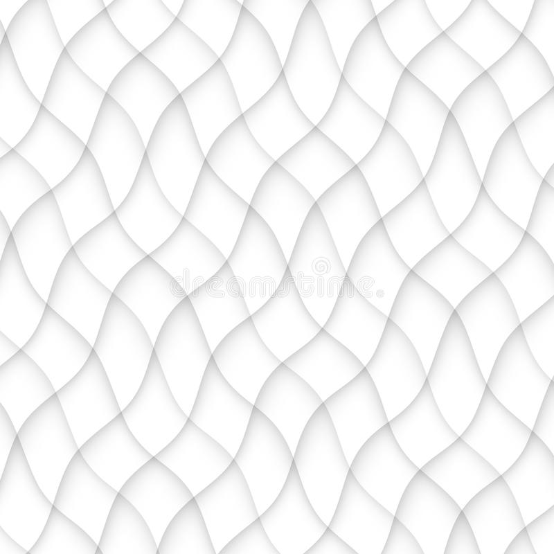 无缝抽象的模式 空白纹理 波浪波浪现代geome 向量例证