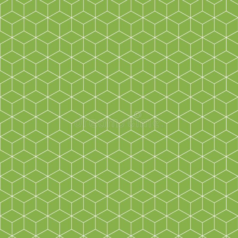 无缝抽象的模式 等量线性几何图 库存例证