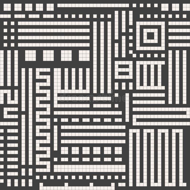 无缝抽象的背景 传染媒介几何线样式 纺织品和包装的样式 皇族释放例证