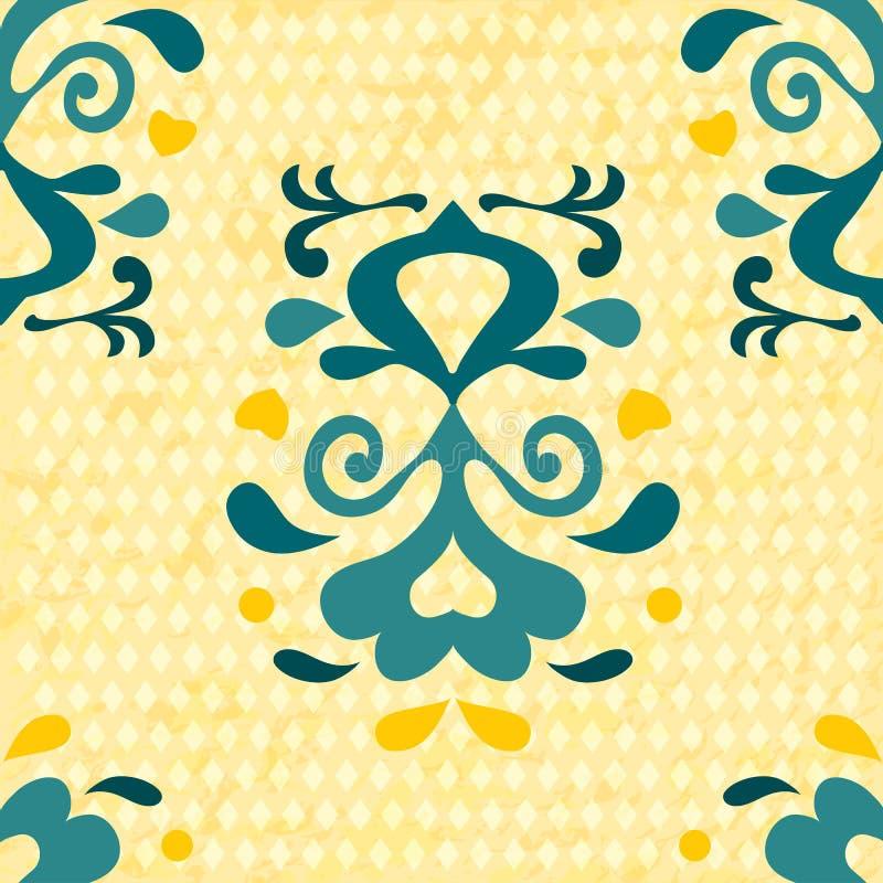无缝抽象的花纹花样 向量背景 库存例证