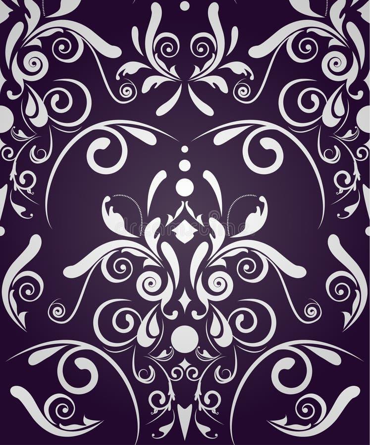 无缝抽象的锦缎 向量例证