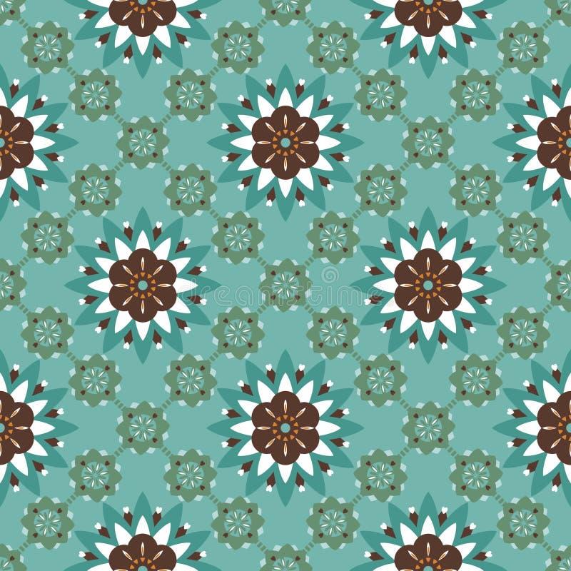 无缝抽象花卉的模式 皇族释放例证
