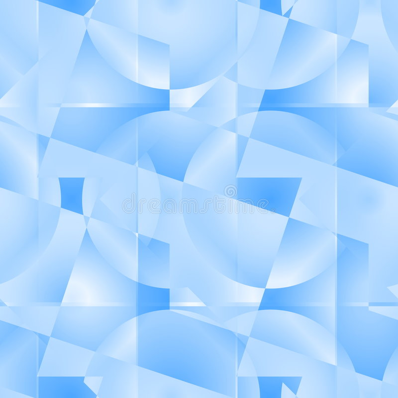 无缝抽象蓝色的模式 皇族释放例证