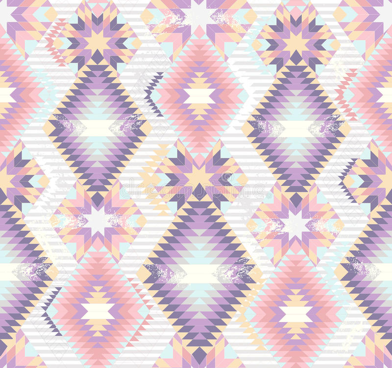 无缝抽象阿兹台克几何的模式 库存例证