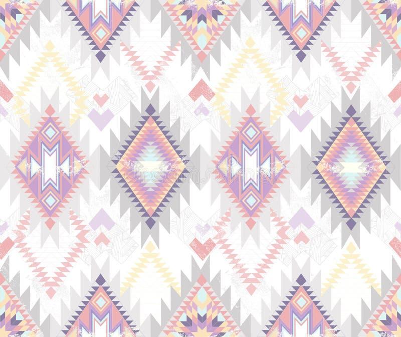 无缝抽象阿兹台克几何的模式 向量例证