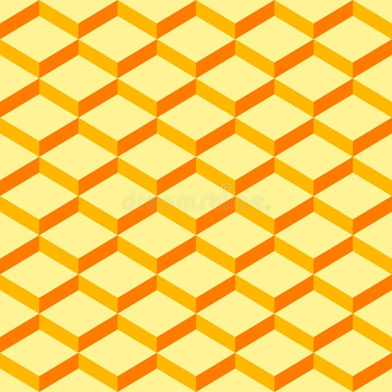 无缝样式包裹纸黄色背景 向量例证