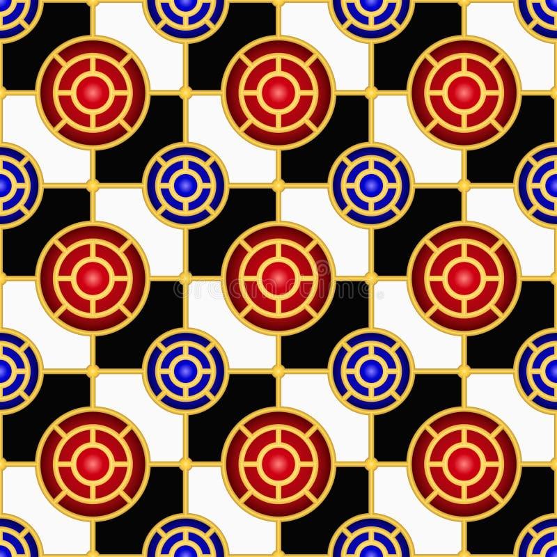 无缝棋盘的模式 皇族释放例证