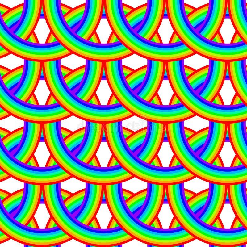 无缝模式的彩虹 皇族释放例证