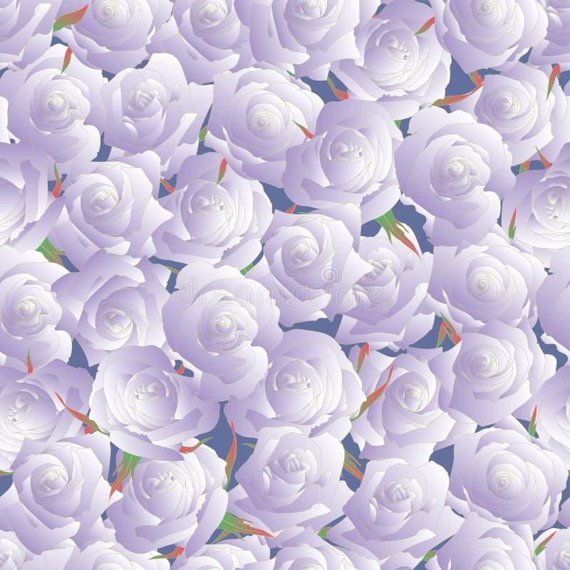 无缝模式的玫瑰 发芽玫瑰 皇族释放例证