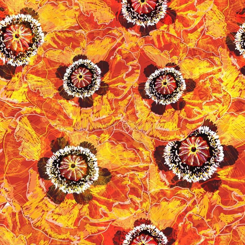 无缝模式的鸦片 边界加点eps10花方格花布缝制的针三向量 皇族释放例证