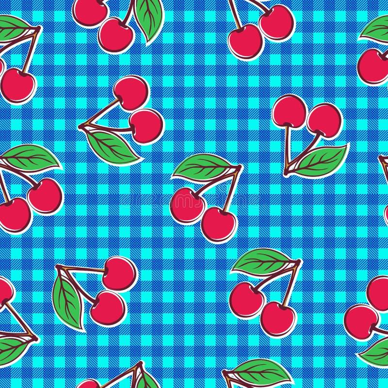 无缝樱桃的模式 向量例证