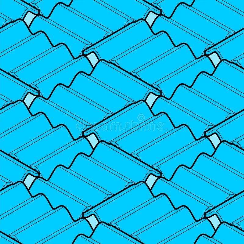 无缝海浪等量样式的样式 波向量背景 库存例证
