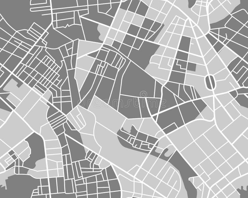 无缝灰色的地图 库存例证