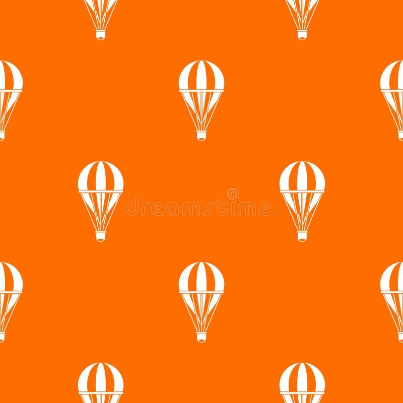 无缝热空气镶边气球的样式 向量例证