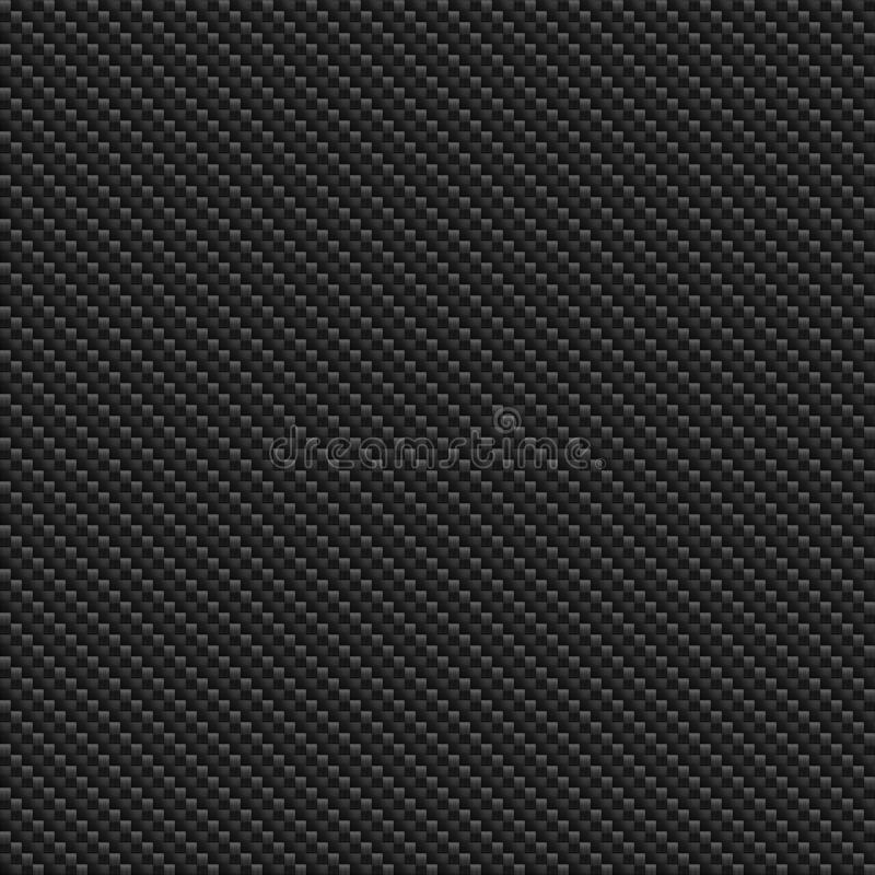 无缝的Ñ  arbon纤维样式纹理 库存例证