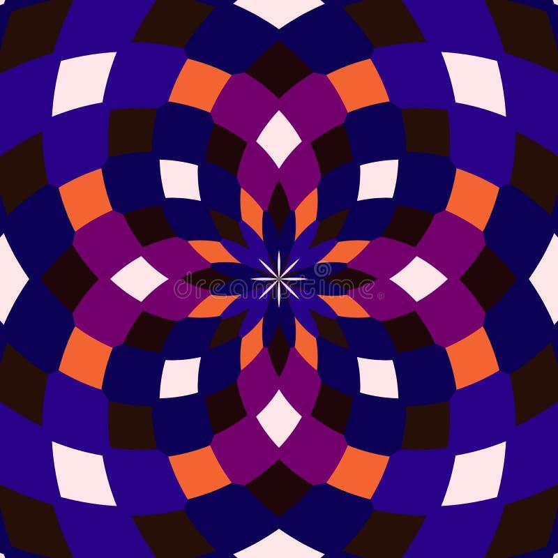 无缝的万花筒 几何样式背景 免版税库存图片