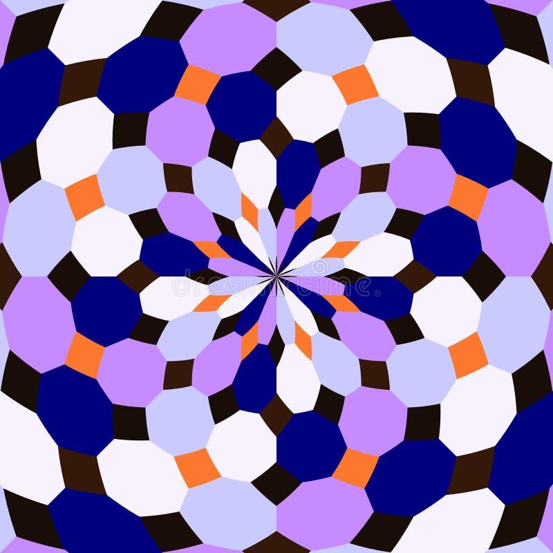 无缝的万花筒 几何样式背景 库存图片