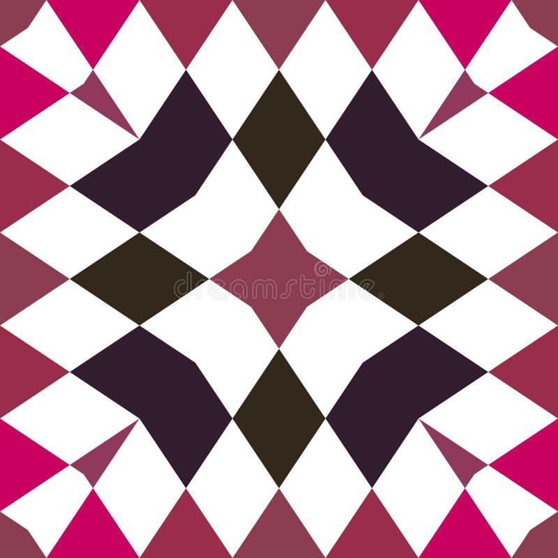 无缝的万花筒 几何样式背景 免版税图库摄影