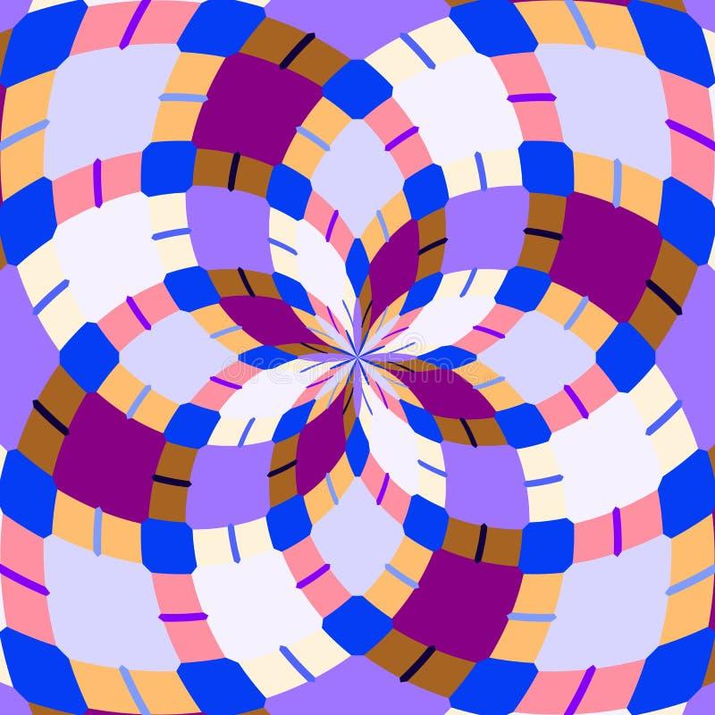 无缝的万花筒 几何样式背景 免版税库存照片