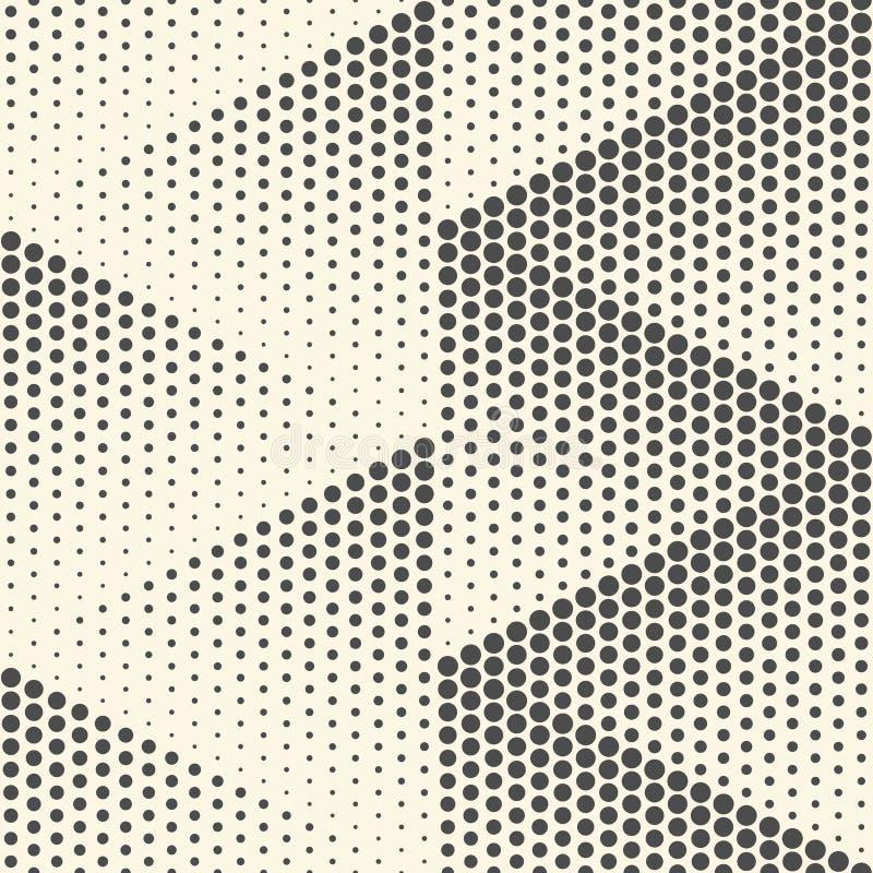 无缝的三角背景 传染媒介中间影调纹理 皇族释放例证