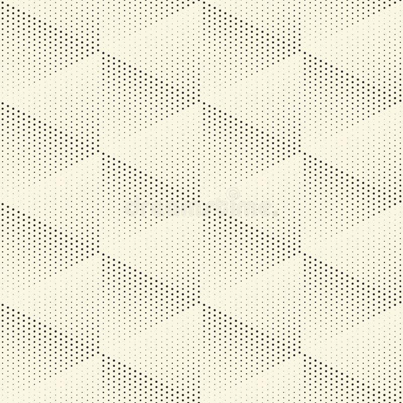 无缝的三角背景 传染媒介加点纹理 向量例证