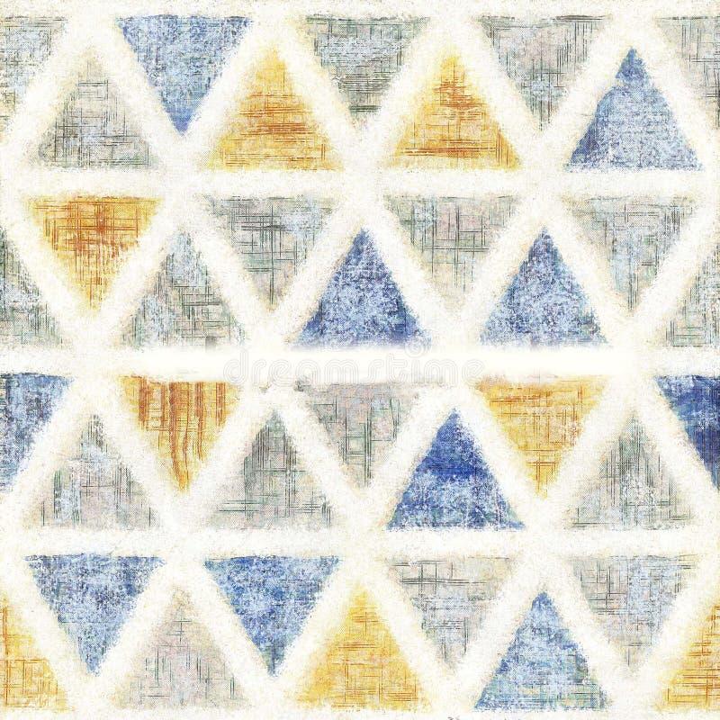 无缝的三角水彩样式背景 向量例证