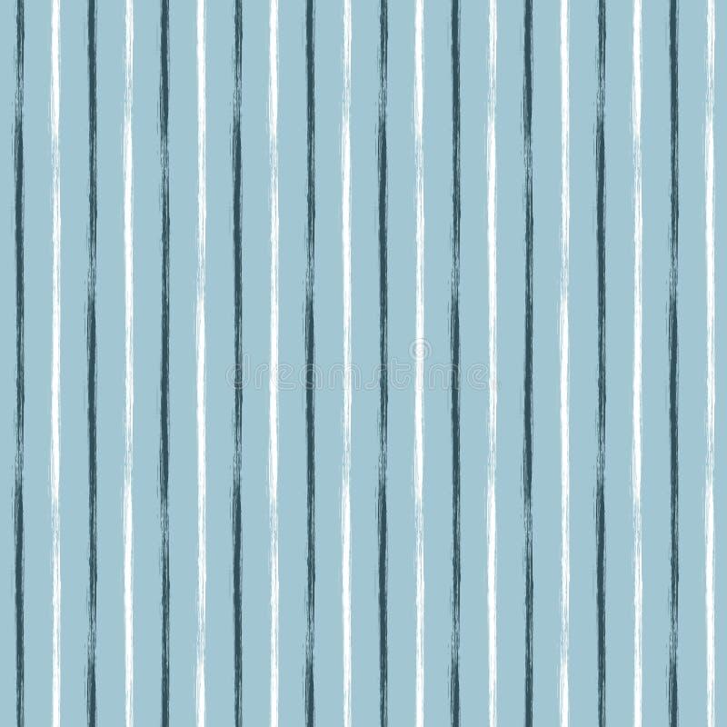 无缝的与手拉的线的传染媒介难看的东西几何样式 与水平的条纹图形设计, grung的不尽的背景 库存例证