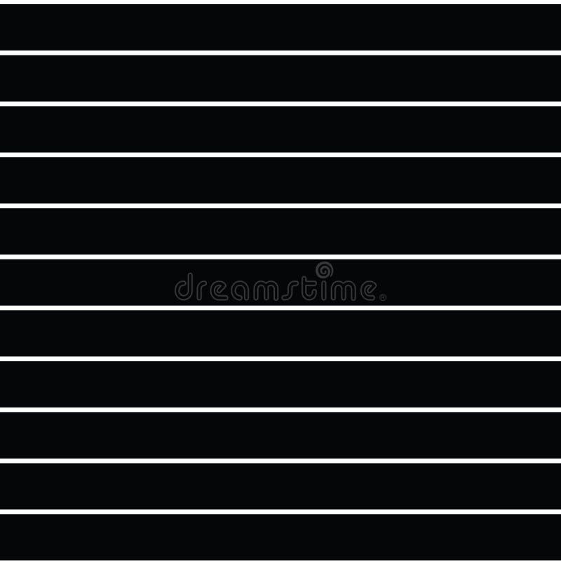 无缝的与水平的平行的str的传染媒介稀薄的条纹样式 库存例证