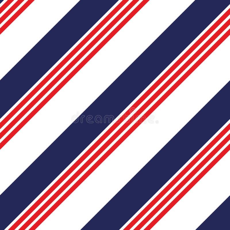 无缝的与红色条纹的星的样式全国美国旗子蓝色和 样式适用于海报、明信片,织品或者包裹 向量例证