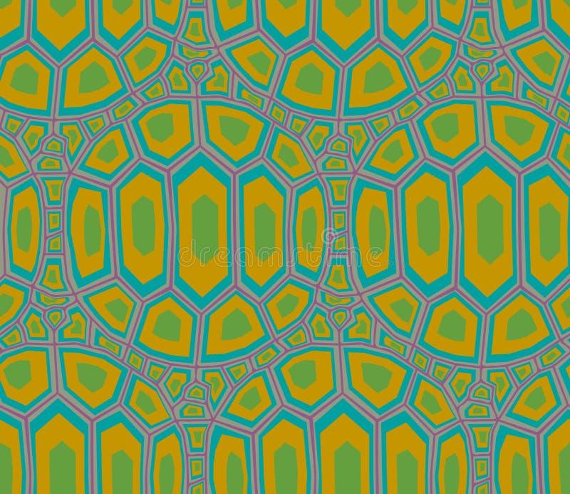 无缝的乌龟壳样式 向量例证