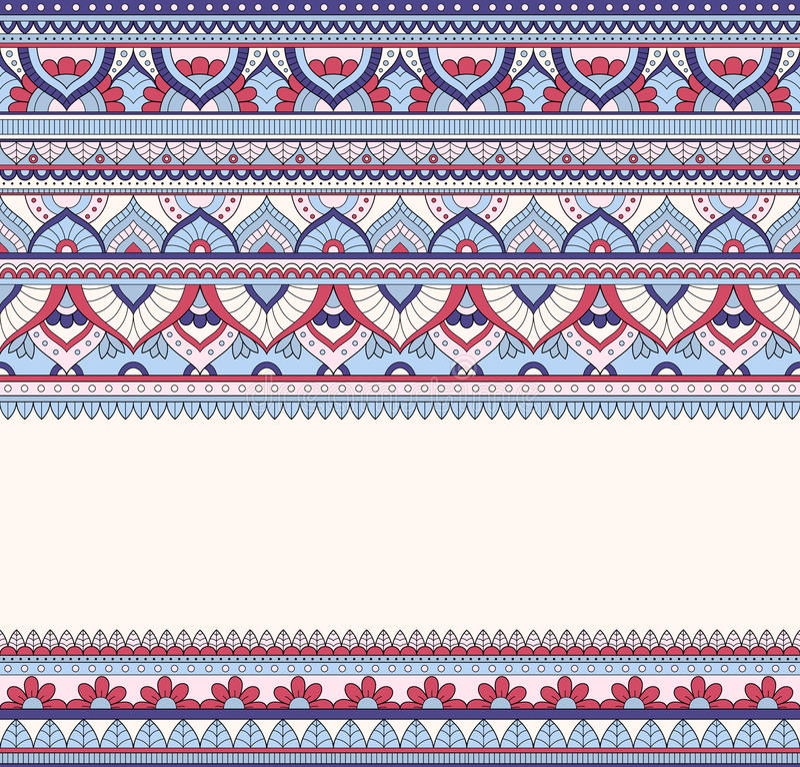 无缝的乱画例证, zentangle样式,墙纸,背景,纹理 印地安人Orment 打印的设计  向量例证