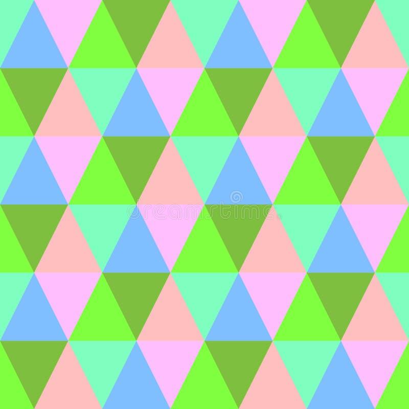 无缝的五颜六色的三角背景 抽象纺织品样式 向量例证