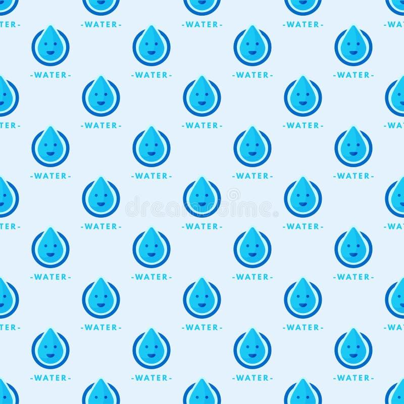 无缝的五颜六色的下落仿造背景传染媒介水蓝色自然雨珠摘要例证 库存例证