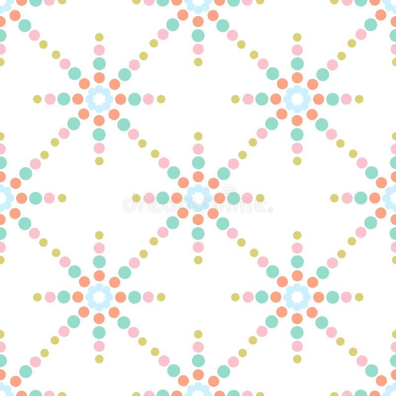 无缝的五颜六色的光点图形 库存例证