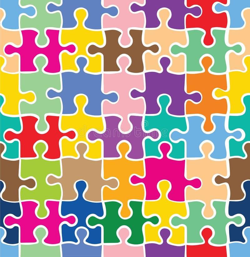 无缝的五颜六色的难题纹理 向量例证