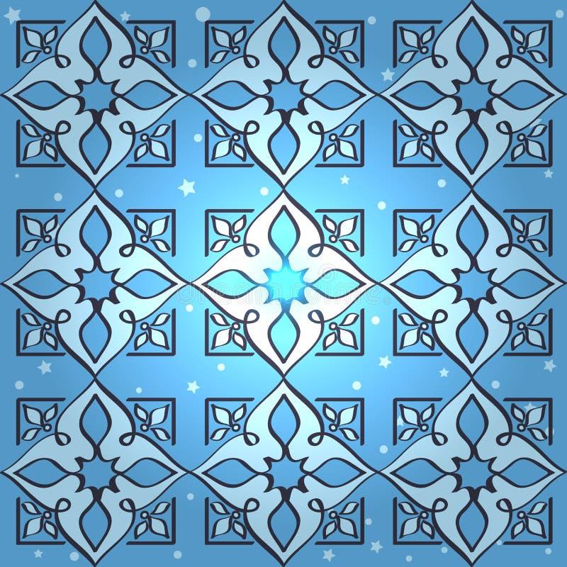 无缝的伊斯兰教的墙纸样式 向量例证