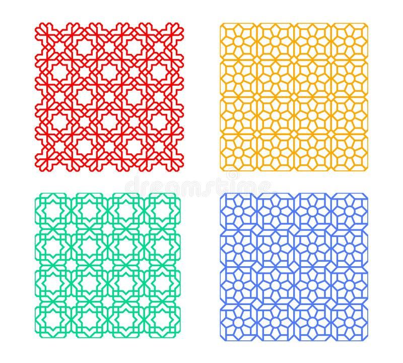 无缝的伊斯兰教的样式,几何传染媒介艺术 向量例证
