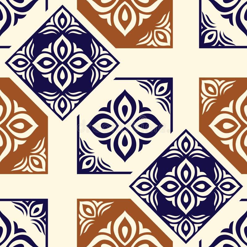 无缝的传染媒介传统装饰样式 皇族释放例证