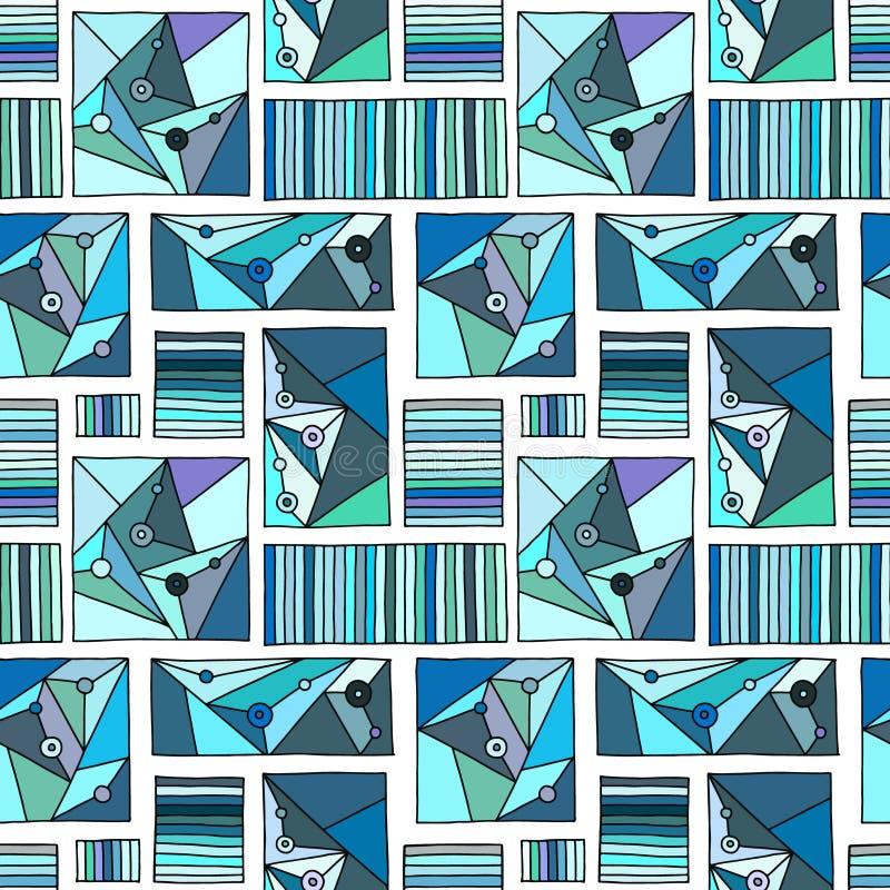 无缝的传染媒介样式,排行了与菱形,三角,线的几何背景 装饰的,墙纸印刷品,包装, 向量例证