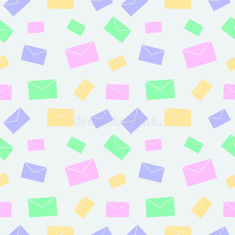 Download 无缝的传染媒介样式,与信件的轻的淡色五颜六色的背景 向量例证. 插画 包括有 背包, 动画片, 虚拟, 图标 - 62531783
