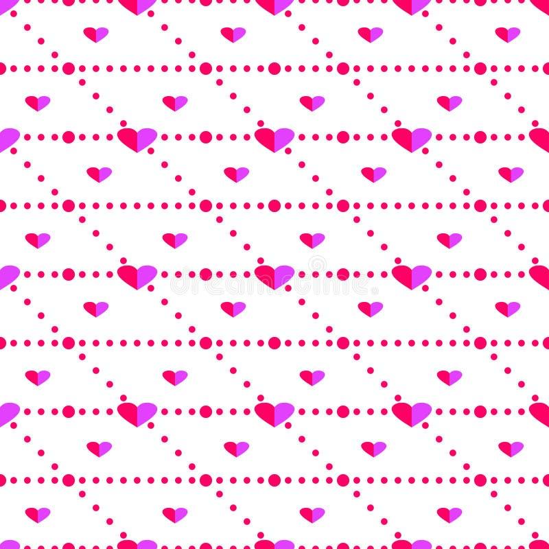 Download 无缝的传染媒介样式,与心脏的明亮的桃红色对称背景 向量例证. 插画 包括有 小点, 图象, 设计, 查出 - 62529984
