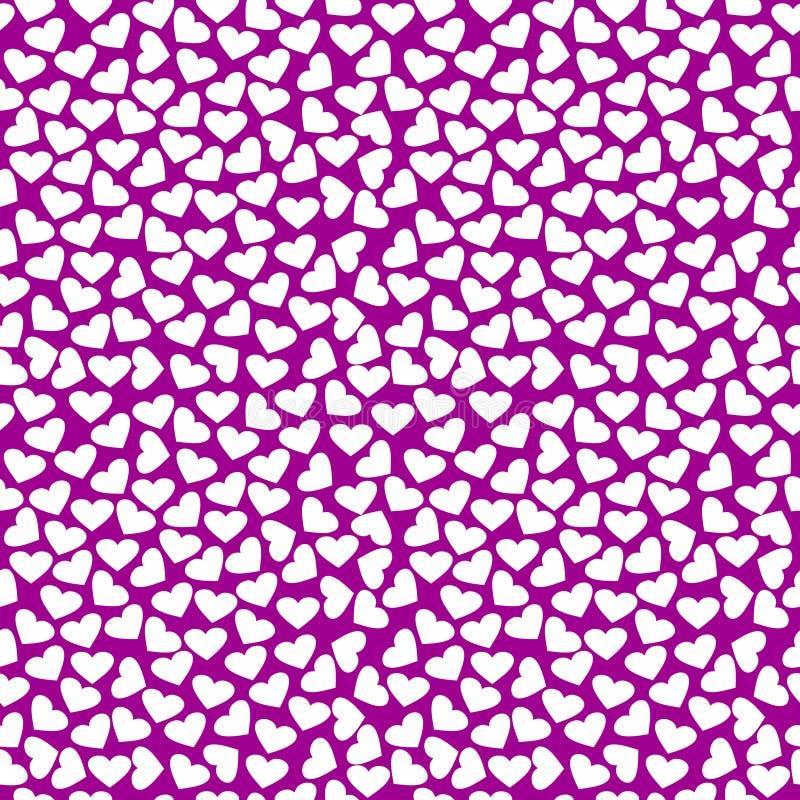 Download 无缝的传染媒介样式,与白色心脏的明亮的紫罗兰色背景 向量例证. 插画 包括有 纸张, 粉红色, 华伦泰, 颜色 - 62530070