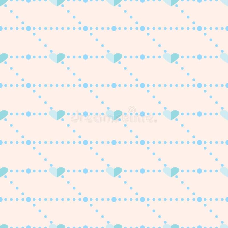 Download 无缝的传染媒介样式,与蓝色心脏的桃红色对称背景 向量例证. 插画 包括有 五颜六色, 样式, 混乱, 模式 - 62529974