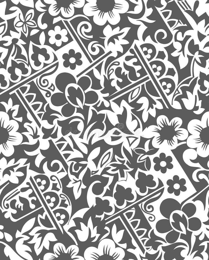 Download 无缝的传染媒介花卉墙纸 向量例证. 插画 包括有 富有, 装饰品, 重复, 灰色, 背包, 无缝, 设计 - 30334614