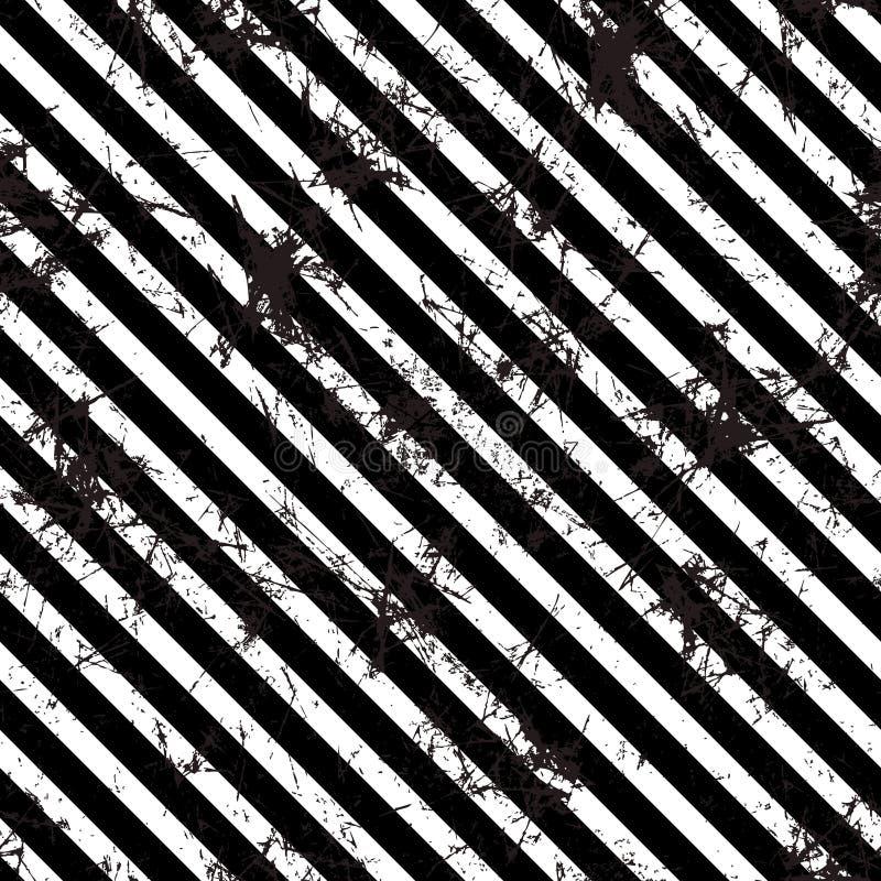 无缝的传染媒介被排行的样式 与对角线的创造性的几何黑白背景 向量例证