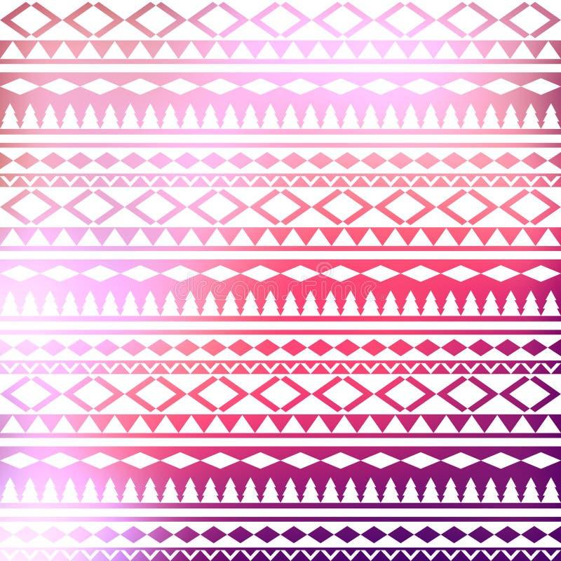 无缝的传染媒介部族纹理 部族传染媒介样式 五颜六色 库存例证